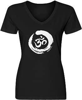 Indica Plateau Womens Om Blank V-Neck T-Shirt