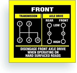 Solar Graphics USA Transmission Shift Pattern Decal - Compatible with Jeep, Willys Or CJ May Fit Transmission and Transfer Case Models Dana 300 NP435, 4 Speed, Twin Stick - 3 x 2.75 inch