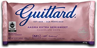 Guittard Chocolate Chips, Akoma Semi Sweet, 12 Ounce (Pack of 12)