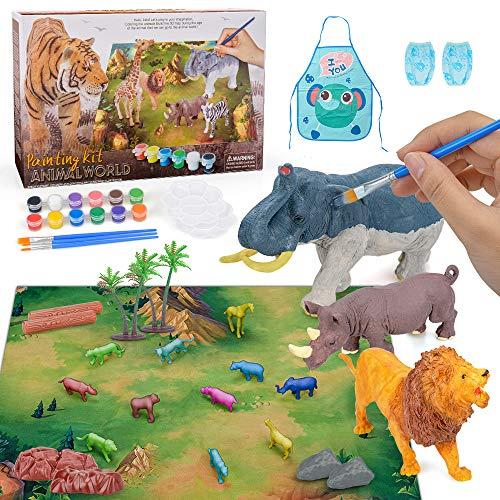 Conjunto De Artes y Manualidades Figuras De Animales Juguetes Kit De Pintura para Niños Niños Niñas Cumpleaños