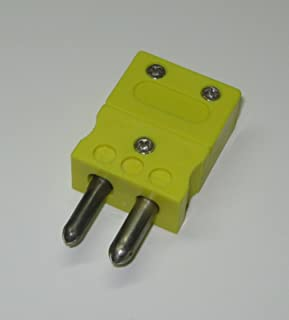 Standard Round K-type Thermocouple Connector - Male Plug