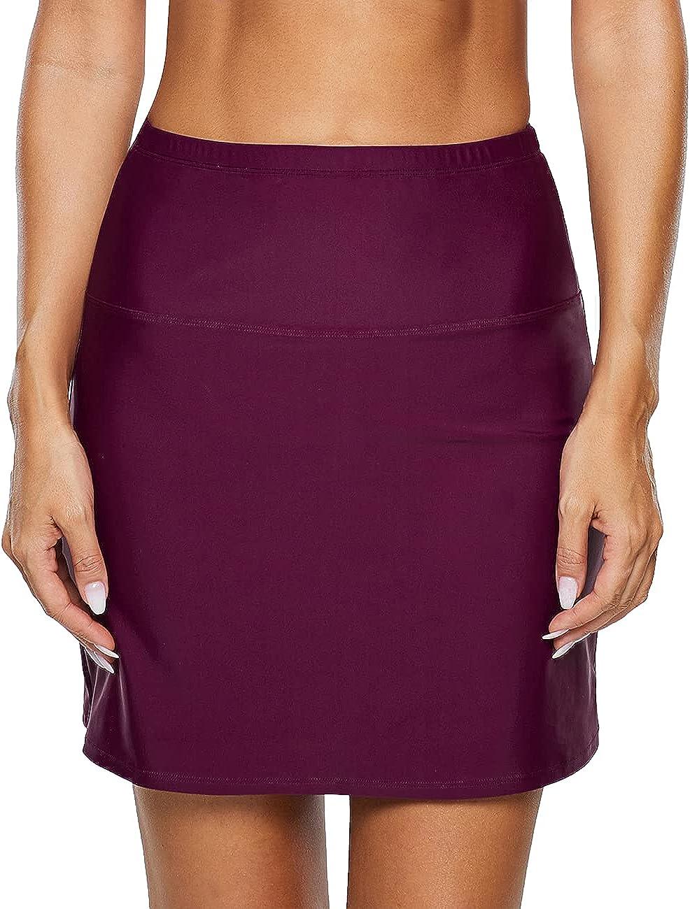 coastal rose Women's Swim Skirt High Waist Bikini Bottom Tankini