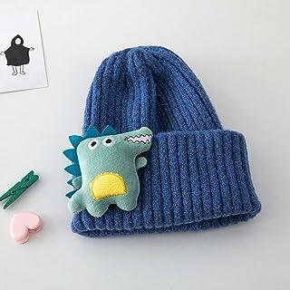 JJSPP Winter Cartoon Dinosaur Baby Hat Cap Warm Knitted Baby Girl Boy Hat Beanie Elastic Kids Hat