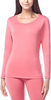 Women's Lightweight Thermal Underwear Top Fleece Lined Base Layer Long Sleeve Shirt L15