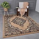 VIMODA - Alfombra clásica oriental tejida para salón, marrón y...