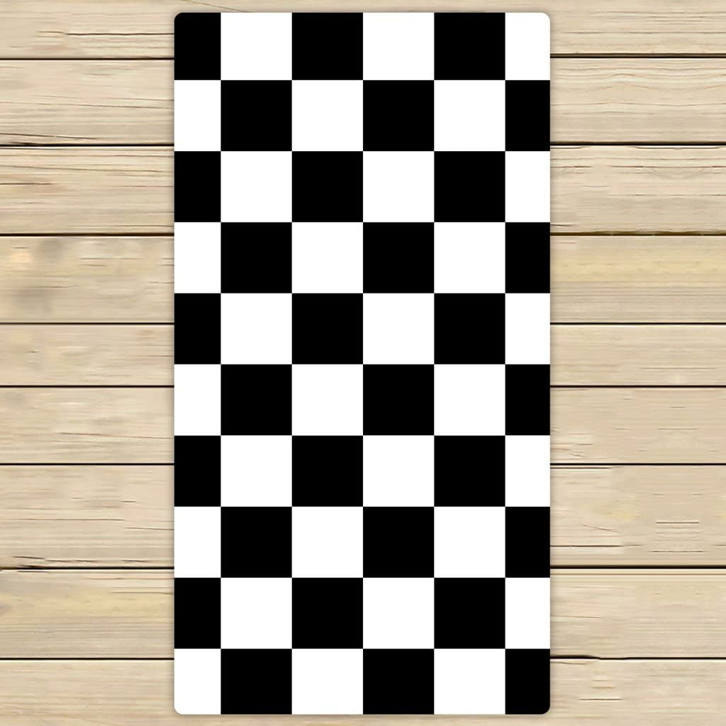 Amazon Com Custom Checkered Towels Black White Checkered Pattern Beach Bath Towels Bathroom Body Shower Towel Bath Wrap For Home Outdoor And Travel Use Size 30x56 Inches Home Kitchen