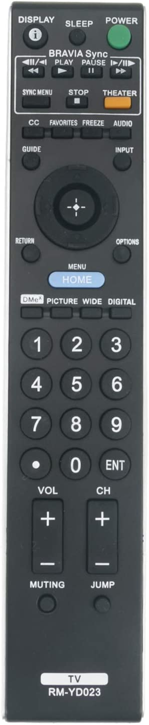 RM-YD023 Replacement Remote Control fit for KDL-32VL140 depot Sony TV Super sale
