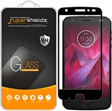 Supershieldz [2-Pack] for Motorola (Moto Z2 Force) Edition/Moto Z Force Edition (2nd Gen) Tempered Glass Screen Protector, [Full Coverage] [Bubble Free] Lifetime Replacement (Black)