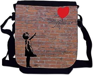 Balloon Girl Banksy Graffiti Art Brick Wall Sublimation Printed Mini Reporter Shoulder Bag