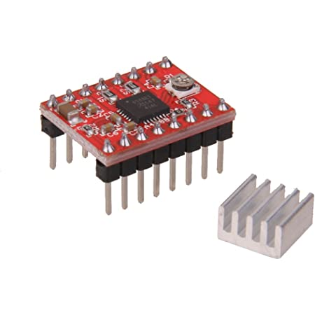 Imported A4988 StepStick Stepper Motor Driver with Heatsink for 3D Printer