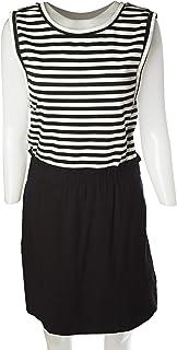 Naf Naf Casual Dresse for Women, White & Black