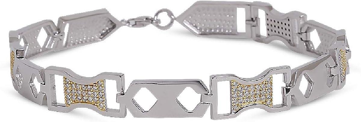 Izaara 92.5 Premium Sterling Bracelet Men's lowest price Silver Max 77% OFF