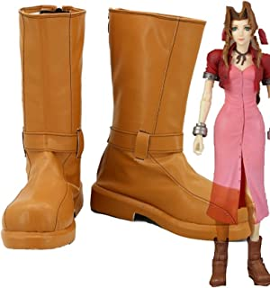 Telacos Final Fantasy VII FF7 Aerith Cosplay Shoes Boots Custom Made