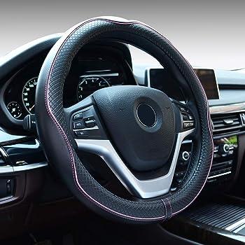 Schwarz Demana Silikon Lenkradh/ülle Lenkradabdeckung Auto rutschfeste Umweltfreundliche Universal f/ür Durchmesser 36-38 cm 14-15 Zoll