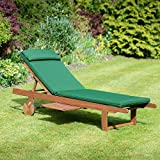 Plant Theatre Reclining Hardwood Sun Lounger Cushion included
