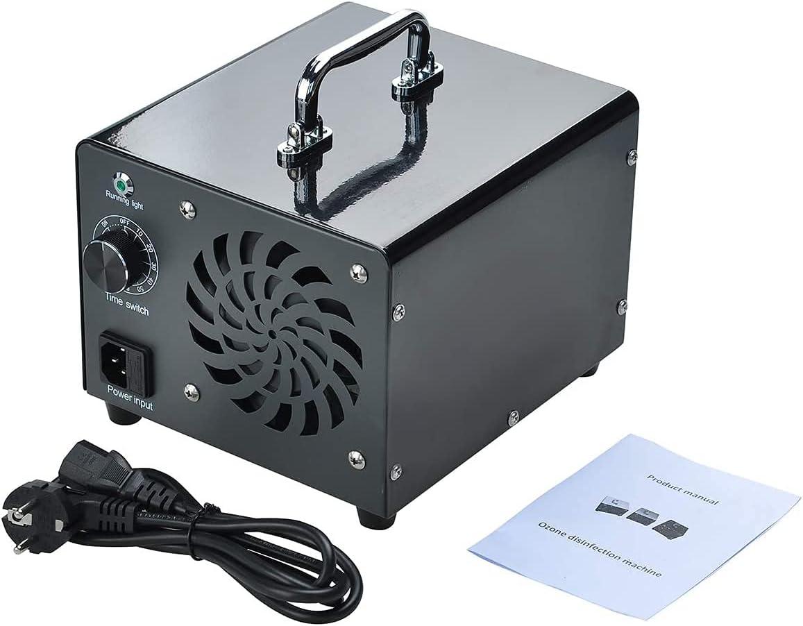 Podazz Generador de Ozono Purificador de Aire Comercial, Esterilizador de Aire Desodorizante de 10000 mg / h 120W para el Hogar, la Oficina, la Cocina, Ionizador de Aire Portátil