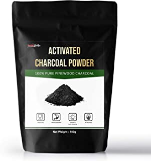Healthgenie Activated Charcoal Powder For Face, Skin And Teeth, Organic Pinewood, 100 gm
