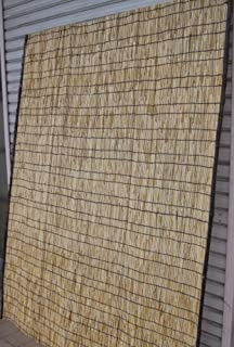 天然よしず1枚(紐付き) 約幅155×高さ176cm たてす