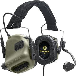 EARMOR Tactische Headset Jacht & Schieten Oorbeschermers met Microfoon, Geluidsversterking, Nato TP120 Jack, Groen
