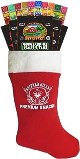 Buffalo Bills 15-Piece Beef Jerky & Beef Stick Sampler Red Christmas Gift Stocking (15 mixed packs)