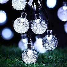 Solar Garden Lights Outdoor, 50 LED 7M/24Ft Solar String Lights Waterproof 8 Modes Indoor/Outdoor Fairy Lights Globe for G...