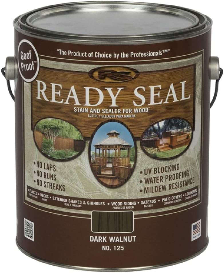 Ready Seal 125 Under blast sales Max 80% OFF Dark Walnut Exterior Wood 1 Gal Stain and Sealer