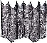 Oledank Halloween Gruseliger Stoff Gruseliges Käsetuch Baumwoll Musselin Tücher Halloween Dekorationen für Spuk Haus Party ,Türen Hallen, Duschvorhänge, Veranden, Fenster(Schwarz, 200 x 1000 cm)
