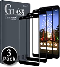 Ferilinso Screen Protector for Google Pixel 3a XL, [3 Pack] [Full Glue][Full Cover] Tempered Glass Case Friendly Protective Film (Black)