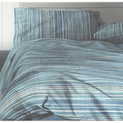 Copripiumino Singolo Bassetti Dozza Beige- CopriPiumino Singolo (cm 155x200), sotto angoli 90x200, federa 50x80 cm, 100% cotone, Made in italy