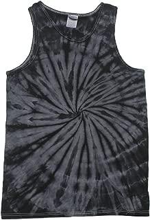 Tie Dye Tank Tops Black Adult Small - 3X Cotton