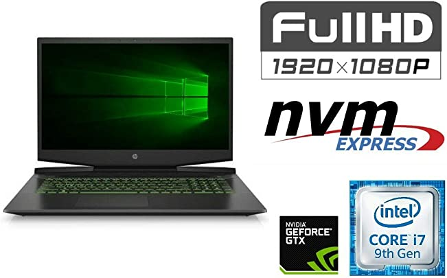 Laptop Pavilion 17-CD02 CORE i7-9750H 64GB DDR4-RAM 500GB SSD 1000GB HDD Windows 10 44cm  17 3 quot   Full HD Display MATT CAD Gaming
