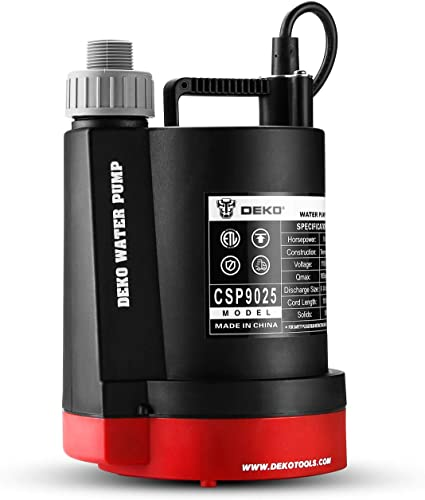2021 DEKOPRO online sale Submersible Water Pump 1/4 HP 1850GPH Thermoplastic Utility Pump Portable Electric Water Removal Pump for Swimming wholesale Pool Garden Tub Pond with 10-Foot Cord online