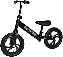 CKK US Warehouse 12 Inch Kids Balance Bike Adjustable Frame Children Lightweight Traning Bicycle No-Pedal Learn to Ride Bike Walking Balancing Bicycle for 2 3 4 5 6 Years Old Toddlers