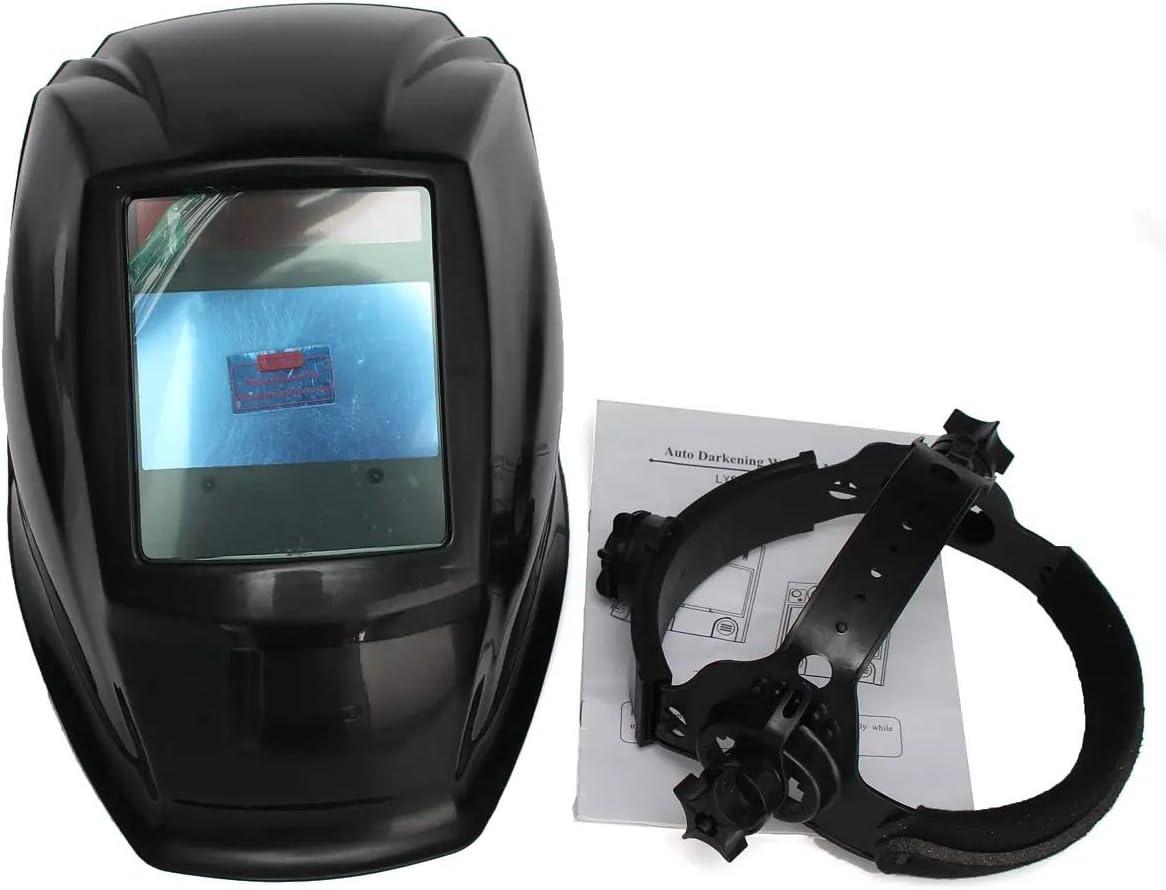 Casco de soldadura, Soldadura eléctrica Máscara Cascos Cap Soldador 4 Solar sensor de arco de oscurecimiento automático de soldadura TIG MIG MAG MMA,gafas protectoras