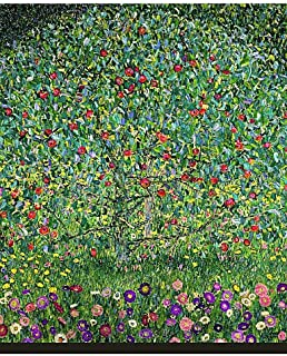 SDYJQ Apple Tree 1912 by Gustav Klimt Famous Stretched Canvas Print , 28