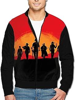 Men's Jacket Full-Zip Jacket Sunset Team Red Dead Rede-mption 2 3D Print Outdoor Zipper Sweatshirt Tops Coat