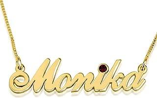 Personalized Custom 24K Gold Plated Swarovski Alegro Name Necklace Jewelry