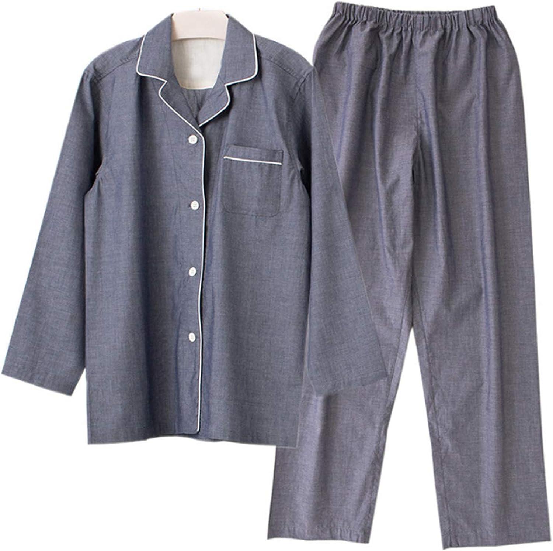Men'S Pajamas Set For Men 2Pc Sleepwear Gray M