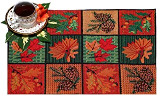 PRAKARTIK BY INDUARTS Cotton Jacquard Tropical Print Placemat for Dining Table (33X47 cm, Multicolour) -Set of 4