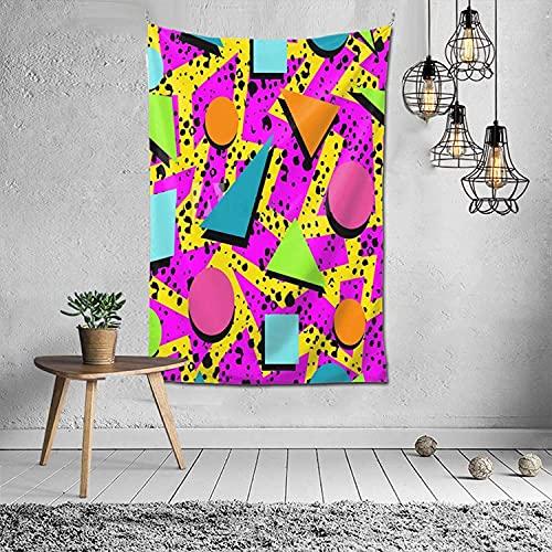 """Tapiz tapiz de pared de Memphis de los años 80 para sala de estar, 60 """"x 40"""""""