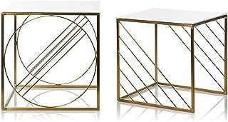Spécial /Simple Table basse, Tables Ensemble de 2 Ordinateurs extérieurs Ordinateurs de nid de nidification de côté carré ...