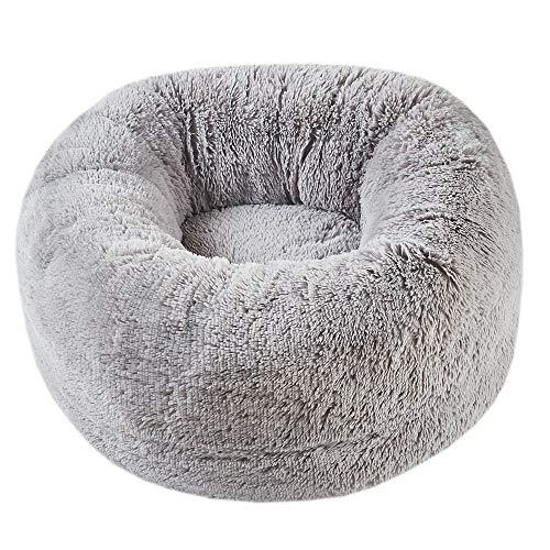 SCM Hundebett, Katzenbett, rundes Plüsch Warme Weiche Bequeme Hundesofa, Hundebett, Katzenbett, Kissen Flauschig,Baumwolle und Samt