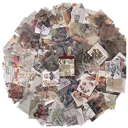 400 Piezas Papel de Fondo Mezclado Scrapbook Papel de Patrón Vintage, Papel de álbum de Recortes Papel de Fondo Decorativo, para Album Scrapbook Tarjetas de Felicitación Journal Card
