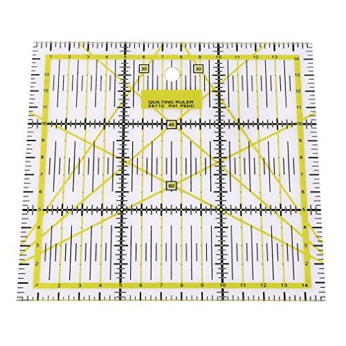 Yinew Acryl DIY Basteln Nähen Quilten, rutschfest für Patchwork-Lineal, von Sew Handicraft-Design