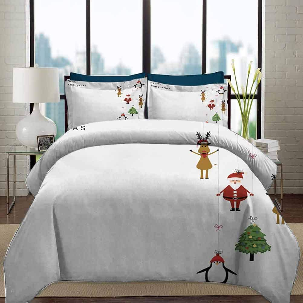 Christmas Bedding Duvet Cover セールSALE%OFF Set S Twin Reindeers お値打ち価格で Size Stylized