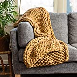Donna Sharp Throw Blanket - Chunky Knit Camel Contemporary Decorative Throw Blanket with Over-Sized Loop Pattern