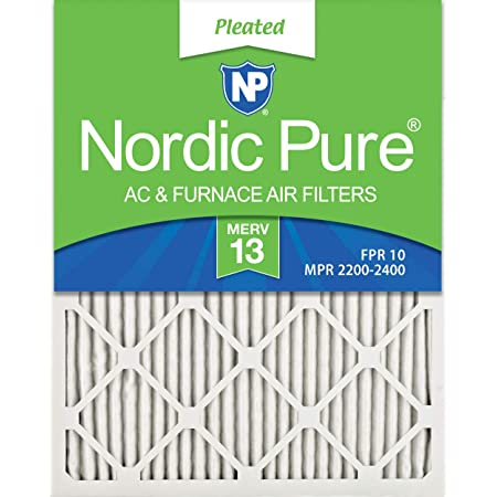 Nordic Pure 22x36x1 MERV 13 Pleated AC Furnace Air Filters 6 Pack