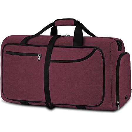 NEWHEY Reisetasche Groß 40L 65L 80L 100L Faltbare Reisetaschen Leichte Sporttasche für männer mit Schuhfach für Weekender Herren Damen Duffel Taschen