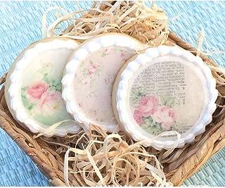Vintage Floral Edible Wafer Paper For Cake topper Decoration, Sugar Sheet Paper Cake Decorating Suppliers