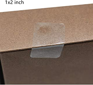 """Hybsk Clear Seal Sticker Labels 1""""x 2"""" Rectangle Square Crystal Clear Retail Package Seals Circle Wafer Stickers/Transparent Labels (1x2 inch)"""